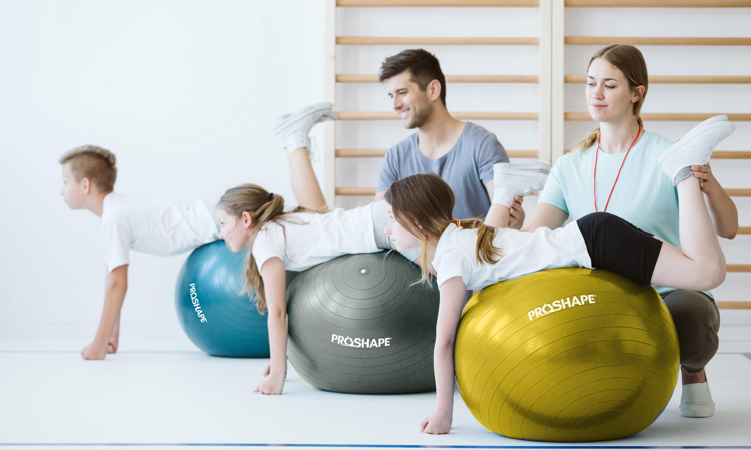 Piłka gimanstyczna do ćwiczeń Fitness Niebieska 65 cm