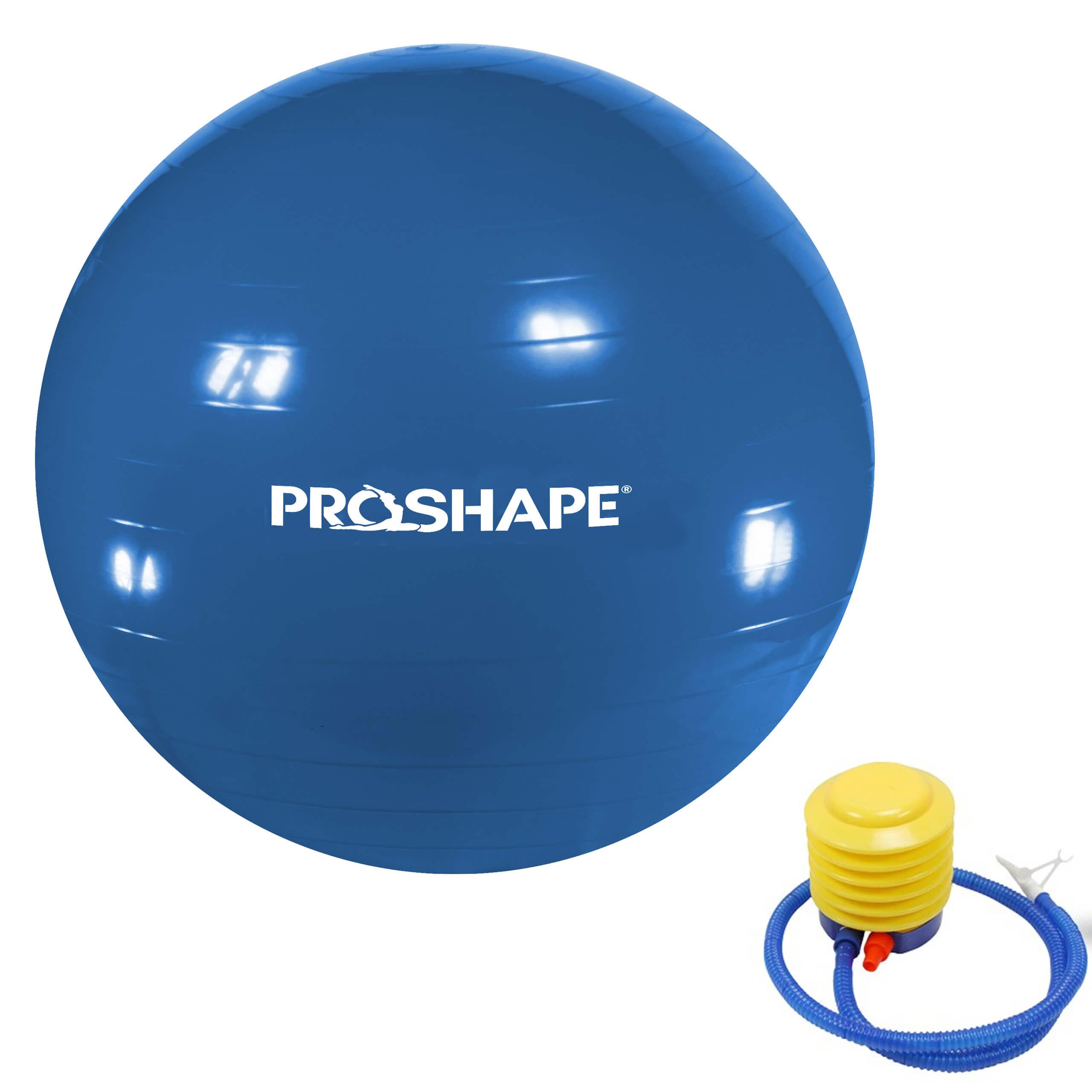 Piłka gimanstyczna do ćwiczeń Fitness Niebieska 75 cm