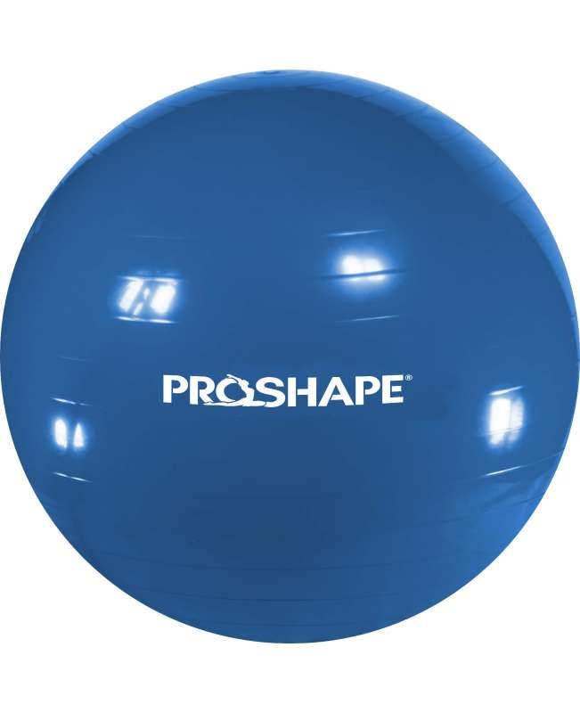 Piłka gimanstyczna do ćwiczeń Fitness ProShape Niebieska 75 cm + Pompka
