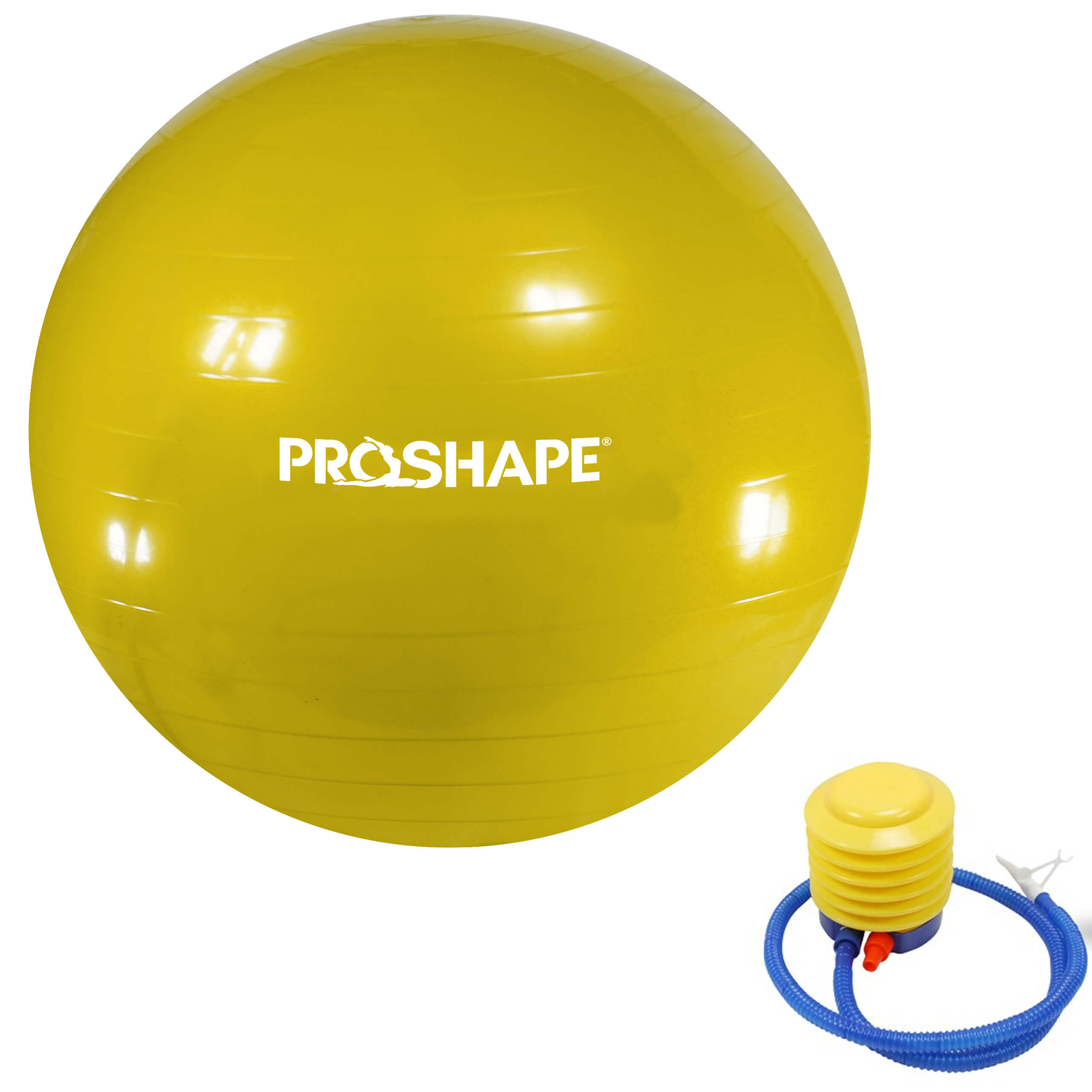 Piłka gimanstyczna do ćwiczeń Fitness Żółta 55 cm