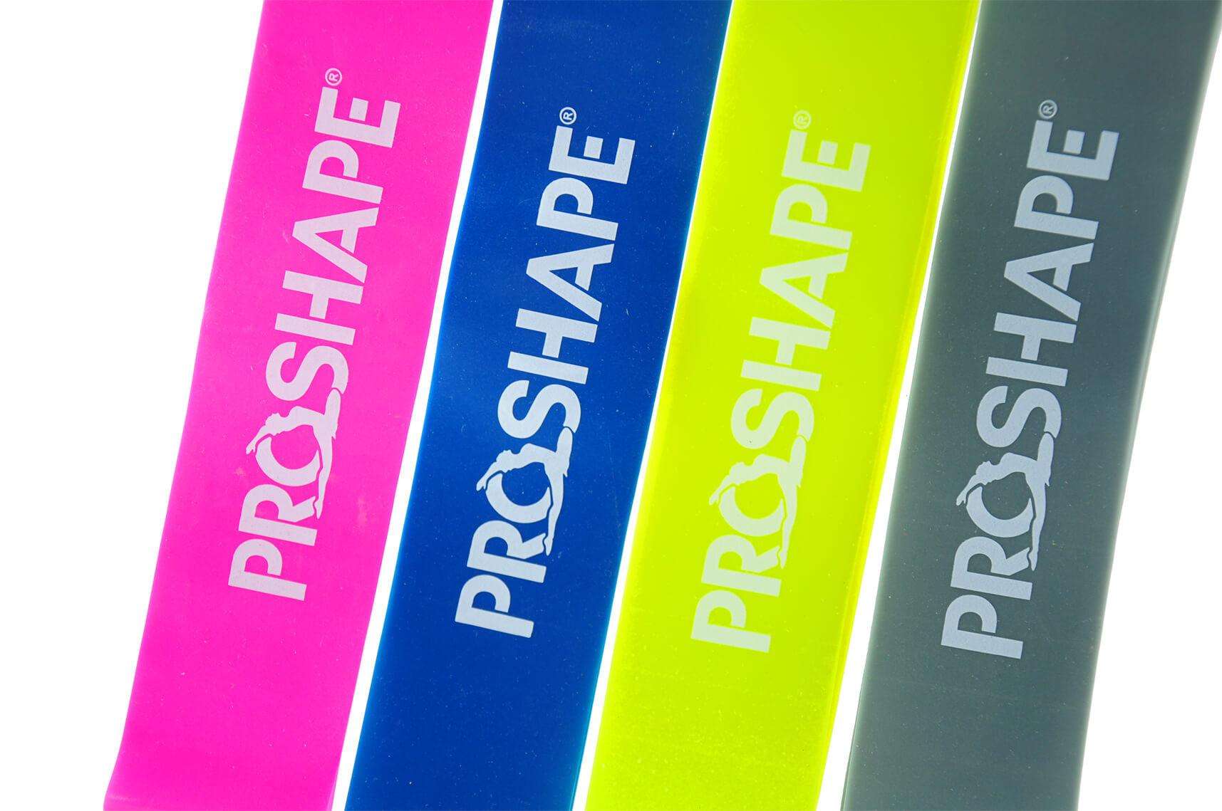 Zestaw Kolorowych Gum do Ćwiczeń ProShape 4 szt.
